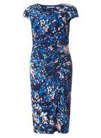 Womens **Lily & Franc Floral Bodycon Dress- Fl Multi