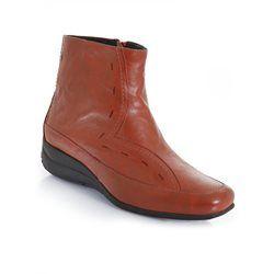 Boots à bouts carrés en cuir PEDICONFORT