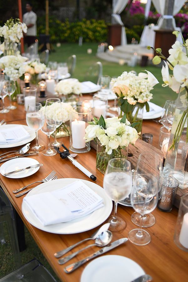 Rustic wedding table setting inspirations | This is incredible! Unique work by  Harperco Events http://www.bridestory.com/harperco-events/projects/symonnie-and-gian-carlo-wedding-ayana