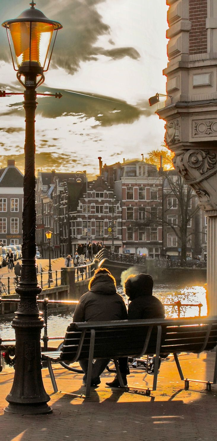 A romantic evening in #Amsterdam , Netherlands