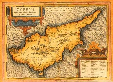 History of North Cyprus Ancient map of Cyprus, HELLAS