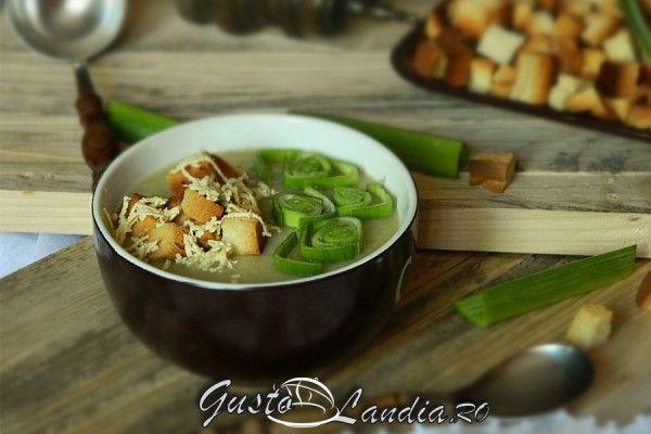 Supa crema de praz (de post)