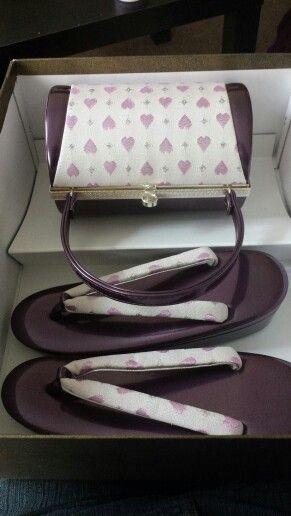Cute zori & bag set