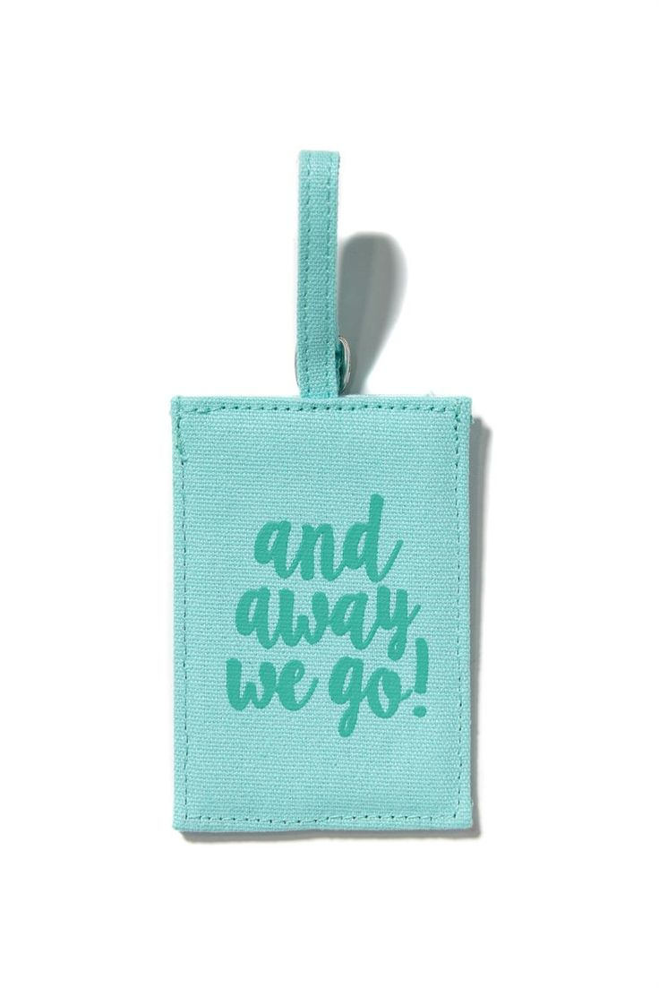 Stand out on the baggage claim with the super cute luggage tag! <br> Includes contact details card. <br> Dimensions: 8cm x 12cm <br/>