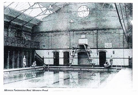 Inside the Monson Road Swimming Baths in the 1950s. | Old ...