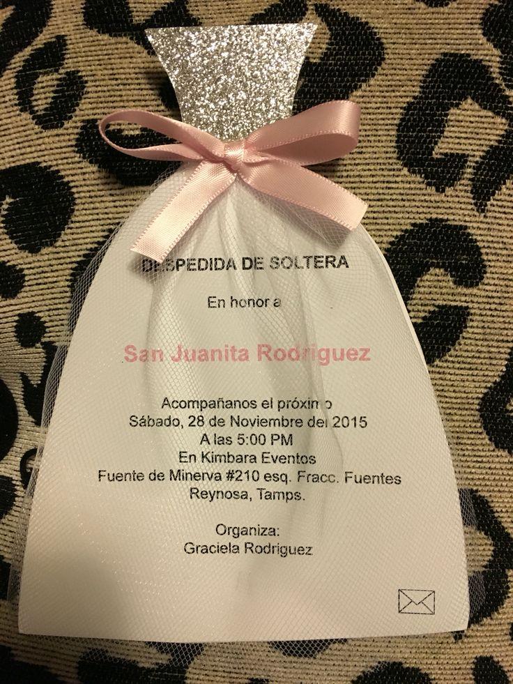 Despedida de soltera invitación/ bridal shower invitation