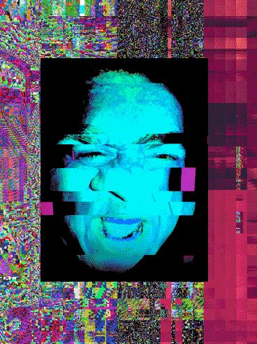 Glitch Art Graphics Visual Face Portrait Gif Colour