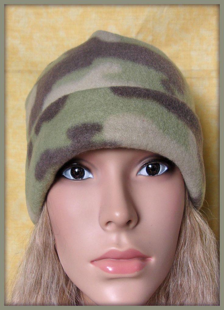 Bonnet polaire motif camouflage avec revers : Chapeau, bonnet par orkan28