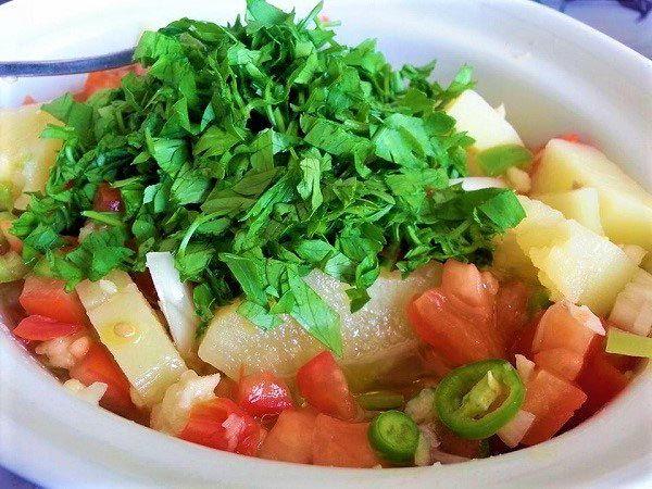 طريقة عمل سلطة البطاطس المسلوقة لاصحاب الرجيم Food Fruit Salad Fruit