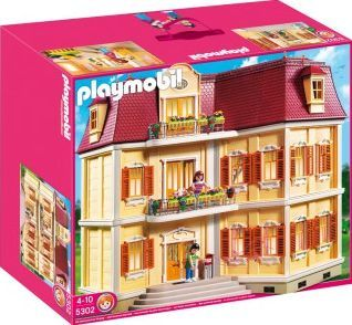 PLAYMOBIL® Grande Mansion Dollhouse, No. 5302 `One size Details : 2 Characters, The doorbell sounds upon pressing, Theme: Dollhouse Age : Age 4 and upwards 60 x 25 x 50 cm http://www.comparestoreprices.co.uk/january-2017-7/playmobil®-grande-mansion-dollhouse-no-5302-one-size.asp