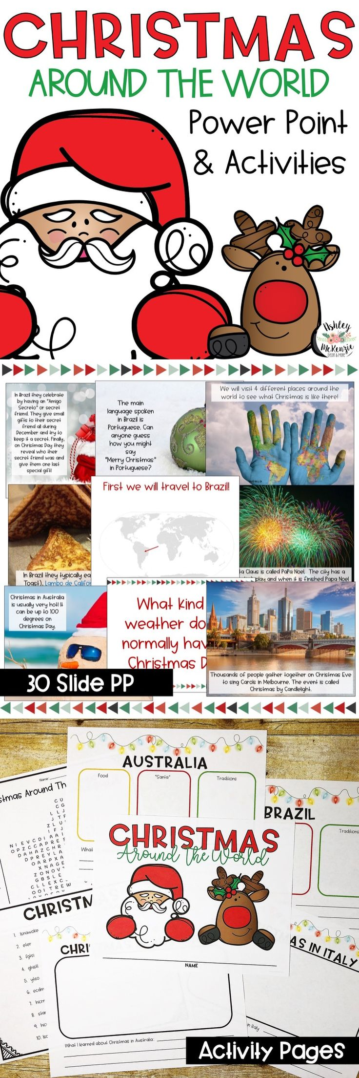 Teach your young learners about Christmas around the world! Features Italy, Brazil, Australia, and Africa!