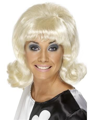 BLONDE SIXTIES LADY WIG - Step back to the swinging sixities, the perfect wig to go with our Retro Go Go Girl costume, great for 1960's and Austin Powers themed