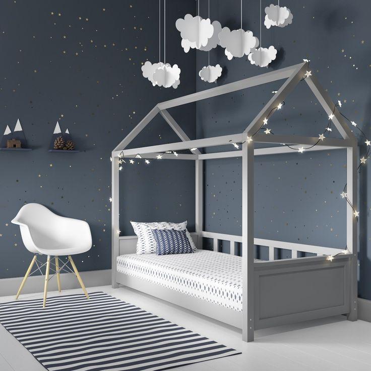 Kinderzimmer in Grau mit Einzelbett von Furniture123 – #Einzelbett #Furniture123 #Grau #Kinderzimmer #mit
