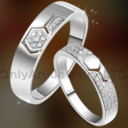 popular new jewelry high fashion wholesale silver couple ring with fast delivery