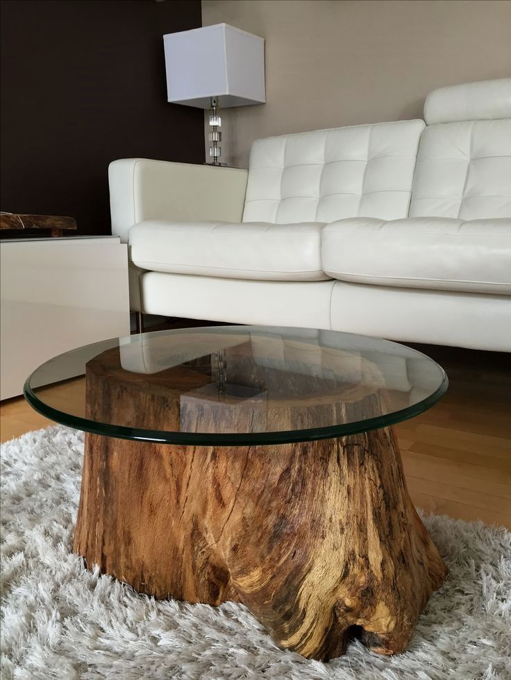 29 Creative Rustic Style Furniture Ideas To Complete A New Cottage Tree Trunk Coffee Table Decor