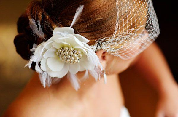 veu gaiola com flor. #casamento