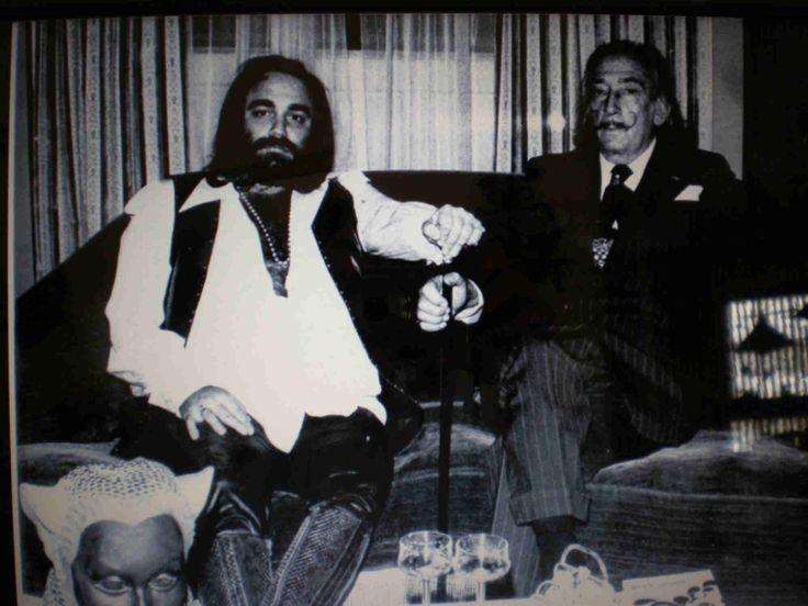 Demis Roussos with Salvador Dali
