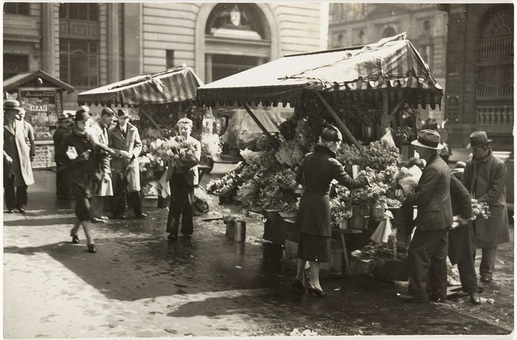 Martin Place [flower stalls], n.d., by Harold Cazneaux | Flickr - Photo Sharing!