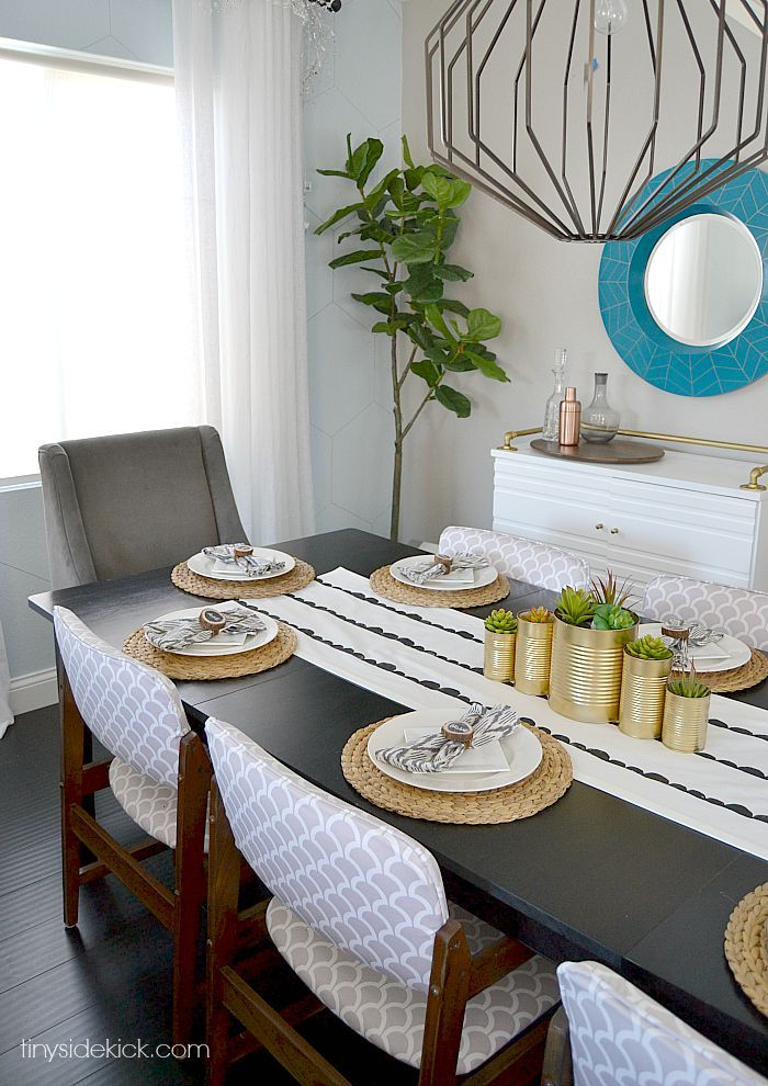 Diy Scallop Stamped Table Runner Runners Tables And