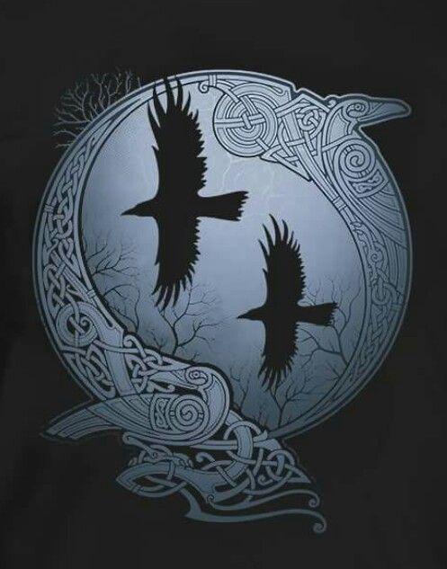 m s de 1000 ideas sobre hugin und munin en pinterest mitolog a n rdica azteken tattoo y. Black Bedroom Furniture Sets. Home Design Ideas