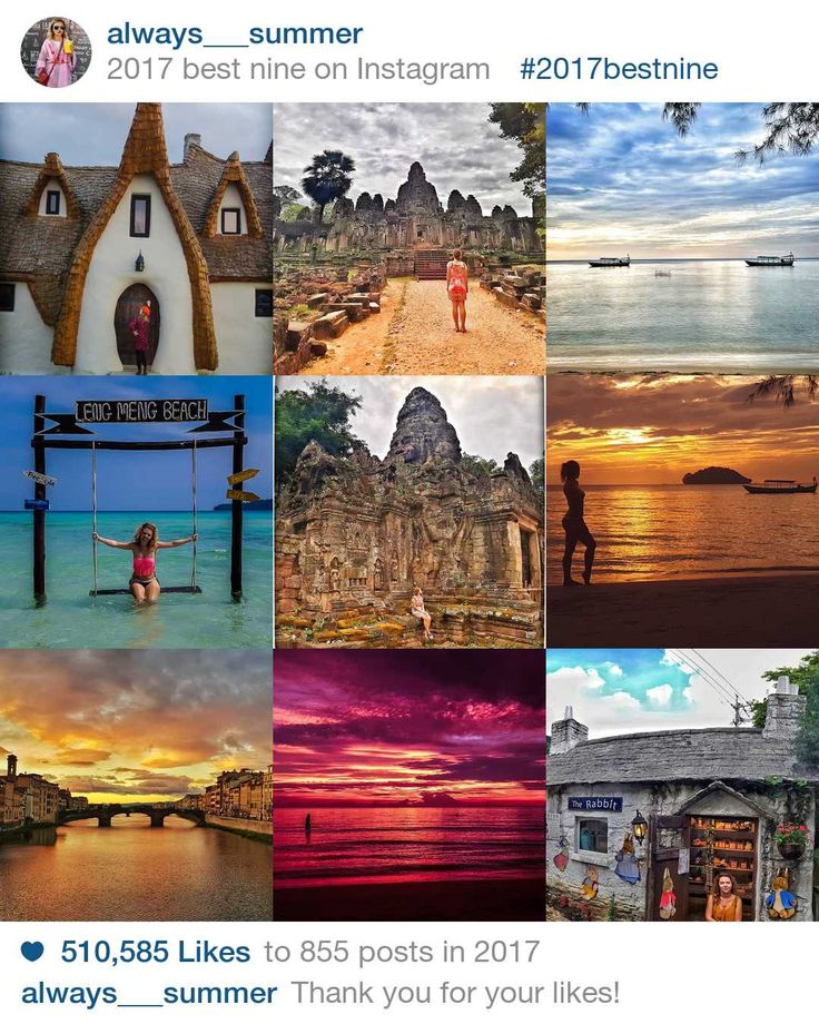 It's easy to get lost in your own little world on Instagram, but don't forget to give your fans what they want every now and then. Here you can use to instantly see your top nine Instagram posts of 2017 in order of popularity.