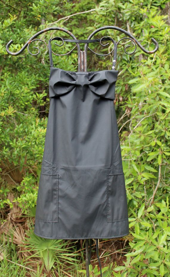 This listing is for the Best Seller in the line up of Lovely Aprons. The Bow Apron is waterproof, chemical and bleach proof.