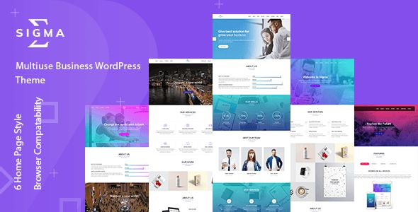 Sigma – Multiuse Business WordPress Theme    SIGMA – Multipurpose Business Wor…
