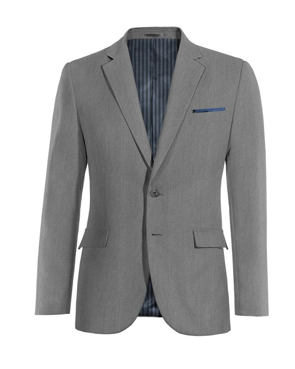 Grey wool Blazer http://www.tailor4less.com/en/men/blazers/4061-grey-wool-blazer