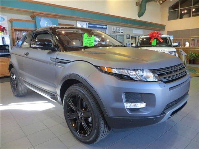 matte grey 2013 land rover range rover evoque pure premium stock 13043 cars for sale. Black Bedroom Furniture Sets. Home Design Ideas