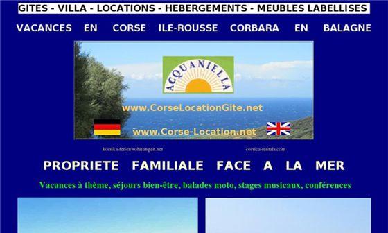 Domaine d'Acquaniella - Location de gîtes ruraux en Corse     - L Île-Rousse, Haute-Corse, Corse