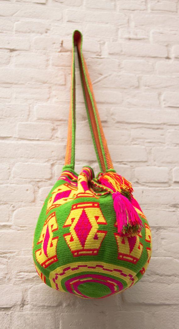 Miss Mochila Bag Wayuu by JourneyInColors on Etsy