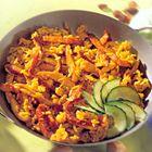 Een heerlijk recept: Gebakken rijst met kalkoen en ei