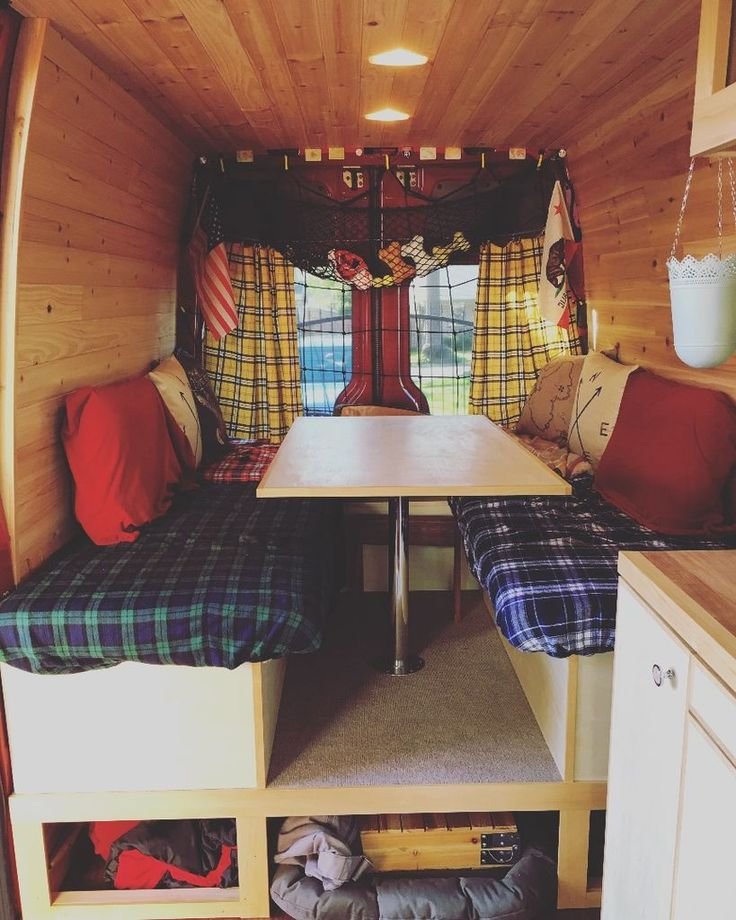 After Using The Van With Simple Platform For A Bed Table And Place To