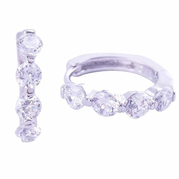 9k white gold-filled hoop earring with clear CZ, 17mm x 15mm x 4mm (coming soon)