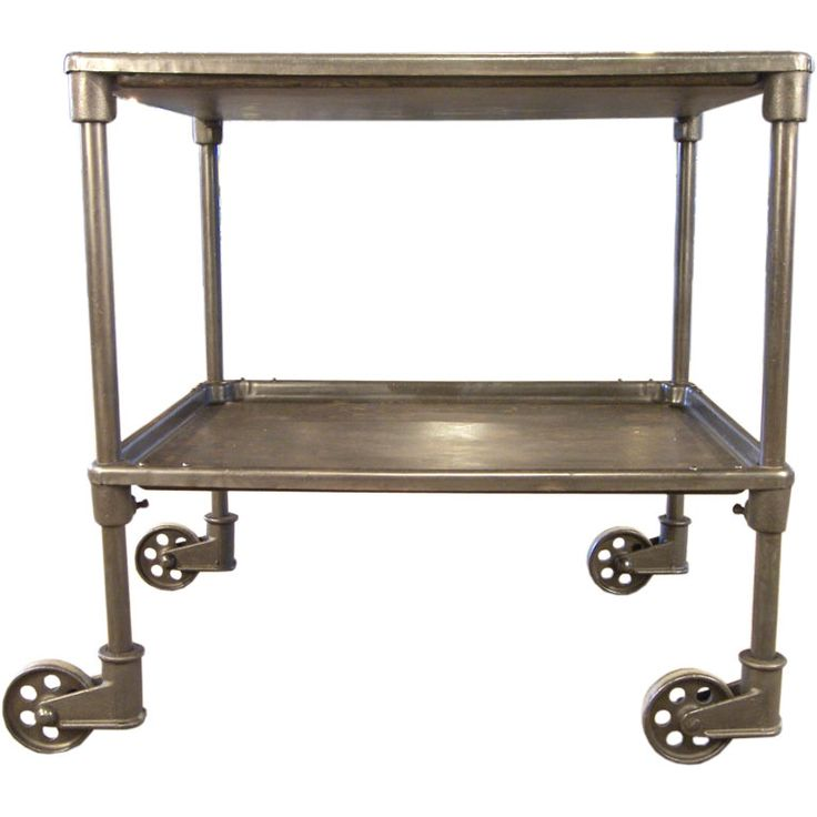 Vintage Kitchen Island Industrial Moving Rolling Cart: Vintage Industrial Two Tier Cart On Casters