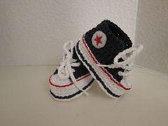 Crochet Baby Converse - baby Allstars! Gratis patroon via Ravelry.