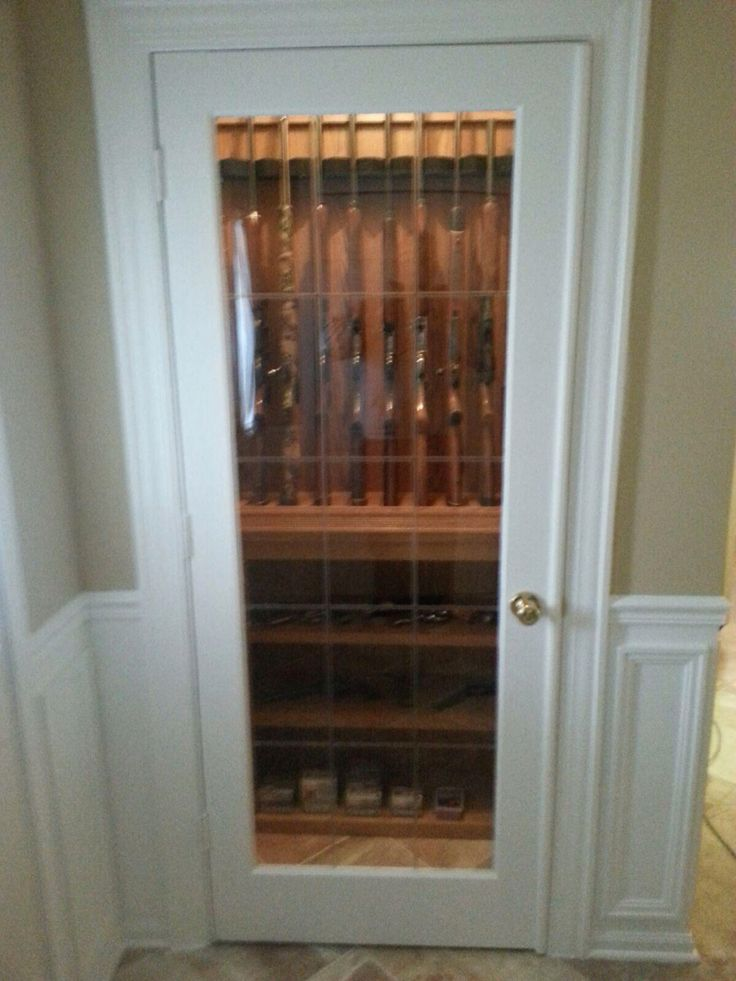 Closet Gun Cabinet My Dad Is So Crafty Built In Ideas Pinterest Cases Cabinets And