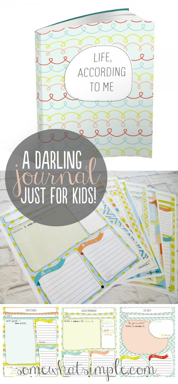 Free printables to make your kid a journal. Journaling activities for kids. Great gift idea.