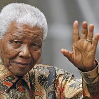 Mandela saying goodbye ?