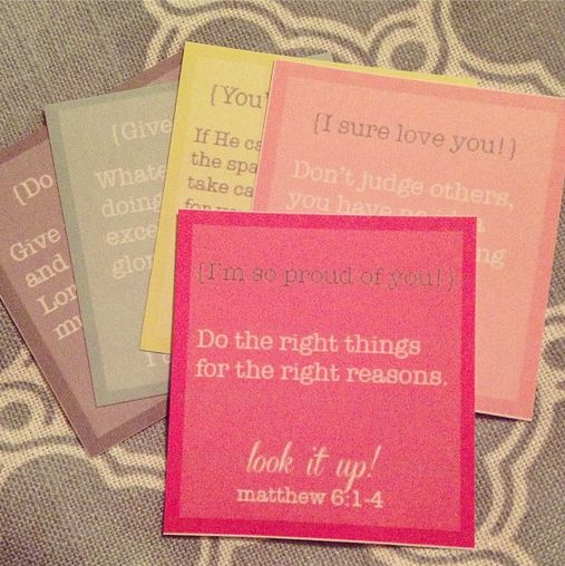 Lunch box printables with a scripture