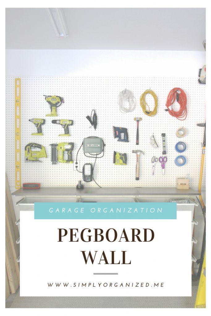 Pegboard Wall Organization