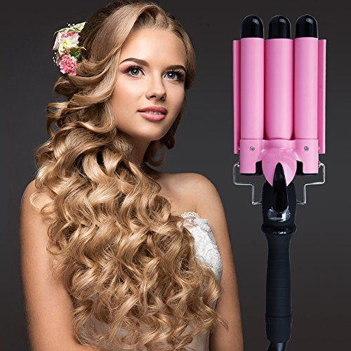 3 Barrel Curling Iron, PrettyQueen Fast Heating Curlers for Long Hair Waving Irons with LCD Display Hair Crimping Ceramic Curling Irons, Black. For product & price info go to:  https://beautyworld.today/products/3-barrel-curling-iron-prettyqueen-fast-heating-curlers-for-long-hair-waving-irons-with-lcd-display-hair-crimping-ceramic-curling-irons-black/