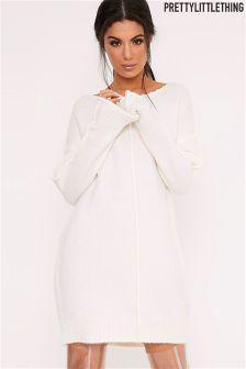 Свободное платье-джемпер с начесом PrettyLittleThing