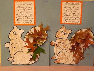 The Stuff We Do ~ Fall Leaf Squirrels done during Fall Week at School. ~ Melissa and Sherry
