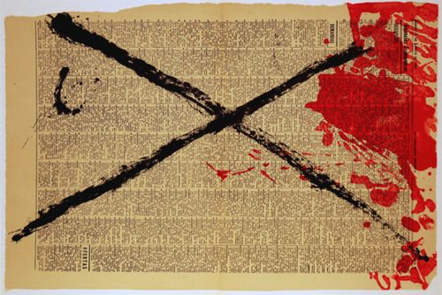 Antoni Tàpies - Journal Lithograph (1968)