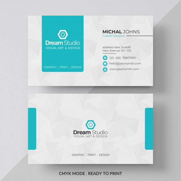 Blue And White Business Card White Business Card Design White Business Card Business Cards Layout