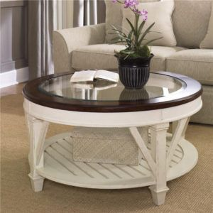 White Round Coffee Table Set