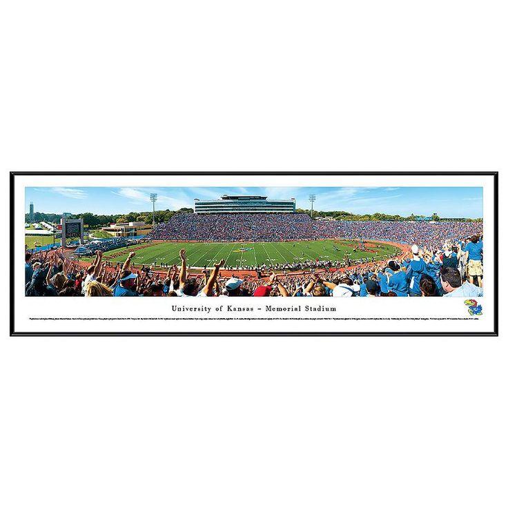 Kansas Jayhawks Football Stadium Framed Wall Art, Multicolor