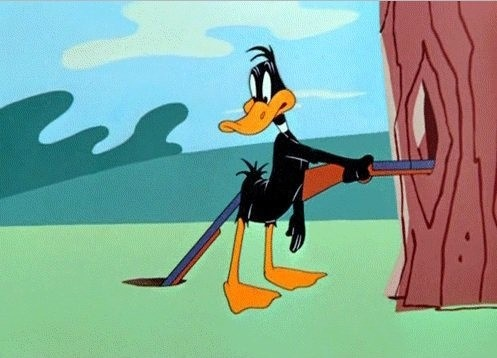 Daffy duck gun shoot...!