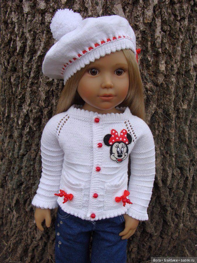 """Вязанный на спицах комплект """"Нежный"""" для кукол Kidz N Cats 18"""" / Мастер-классы, творческая мастерская: уроки, схемы, выкройки для кукол / Бэйбики. Куклы фото. Одежда для кукол"""